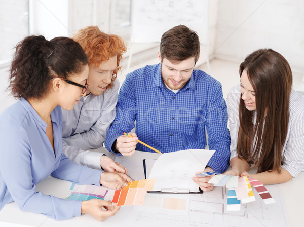 Equipo color plan oficina negocios Foto stock © dolgachov