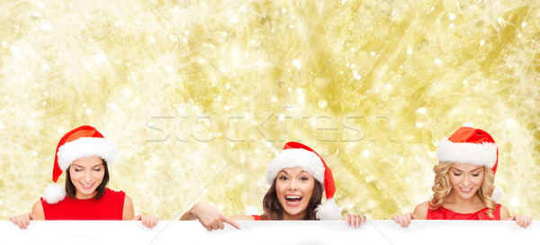 Vrouwen helper hoed christmas Stockfoto © dolgachov