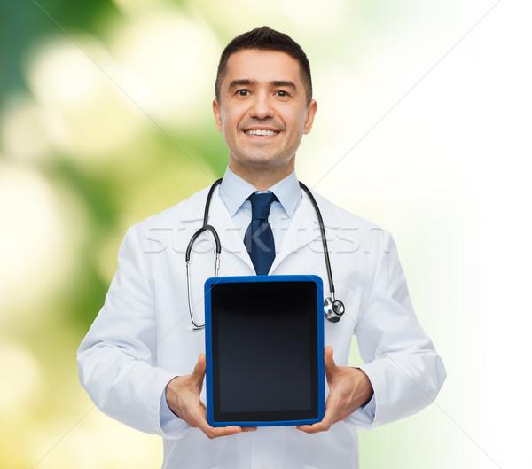 Foto stock: Sonriendo · doctor · de · sexo · masculino · medicina · profesión · anuncio