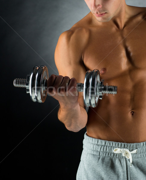 Photo stock: Jeune · homme · sport · bodybuilding · formation