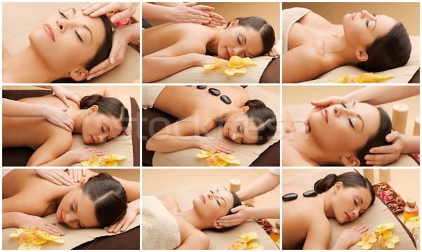 женщину тело массаж Spa салона красоту Сток-фото © dolgachov