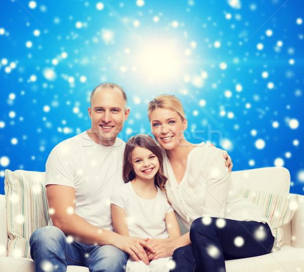 Stok fotoğraf: Mutlu · aile · ev · aile · çocukluk · Noel · tatil