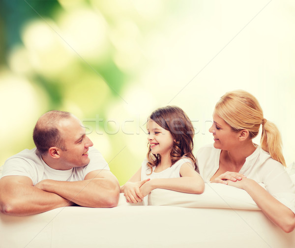 famille heureuse maison famille enfance cologie personnes photo stock syda. Black Bedroom Furniture Sets. Home Design Ideas