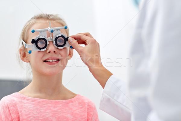 оптик кадр девушки клинике медицина Сток-фото © dolgachov