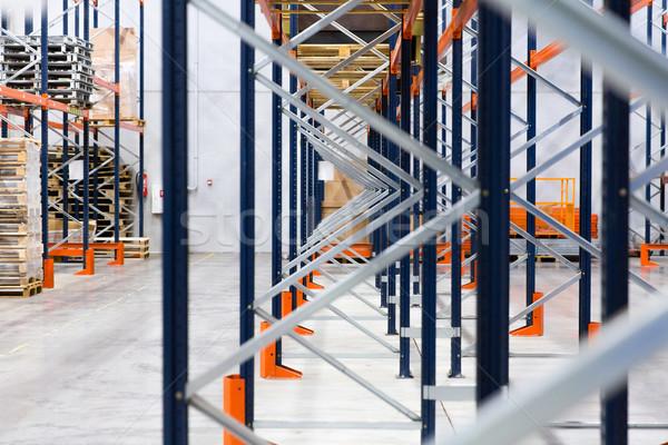 warehouse shelves or constructions with cargo Stock photo © dolgachov