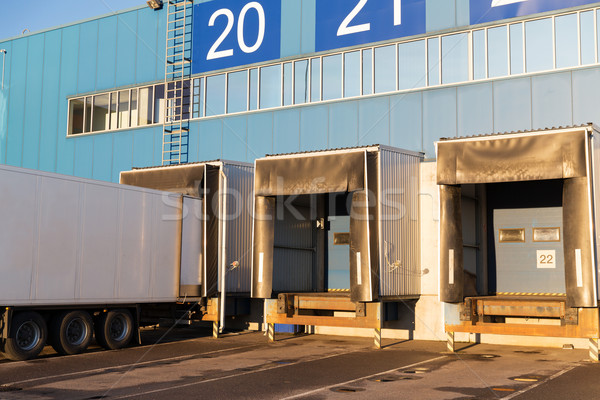 warehouse gates and truck loading Stock photo © dolgachov