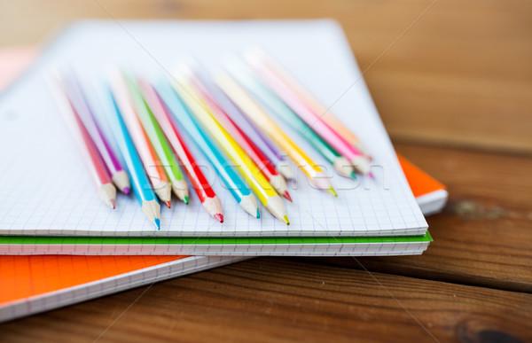Giz de cera cor lápis arte escolas Foto stock © dolgachov