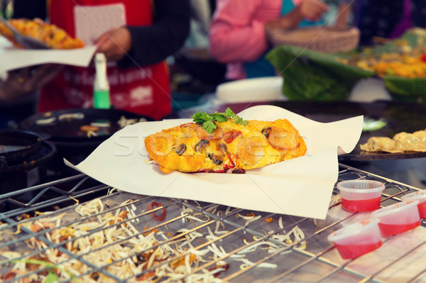 Casse-croûte rue marché cuisson asian Photo stock © dolgachov