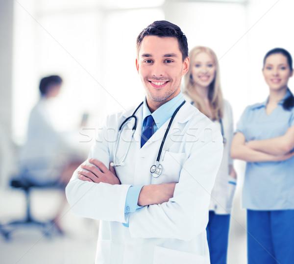 Medico di sesso maschile stetoscopio luminoso foto medico salute Foto d'archivio © dolgachov