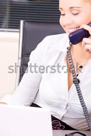 ストックフォト: ハンサム · ビジネスマン · 話し · 電話 · 画像 · ホーム