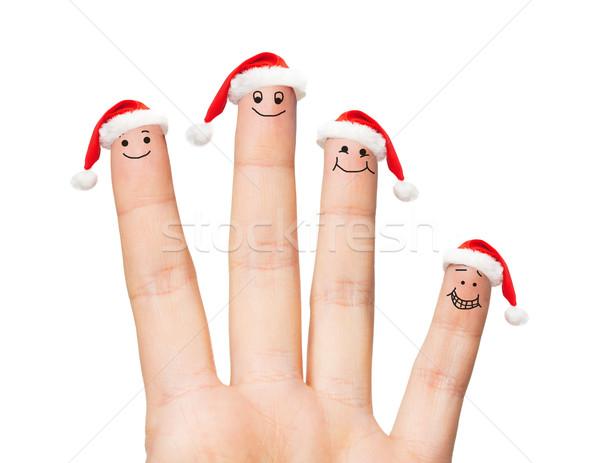 Mano quattro dita Foto d'archivio © dolgachov
