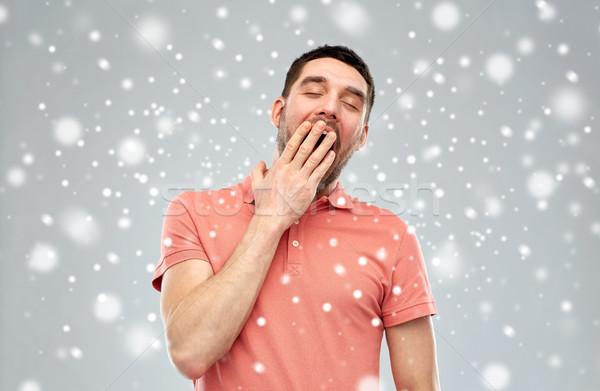 устал человека снега усталость зима Сток-фото © dolgachov