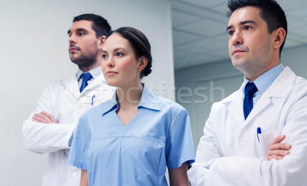 группа врачи больницу клинике профессия люди Сток-фото © dolgachov