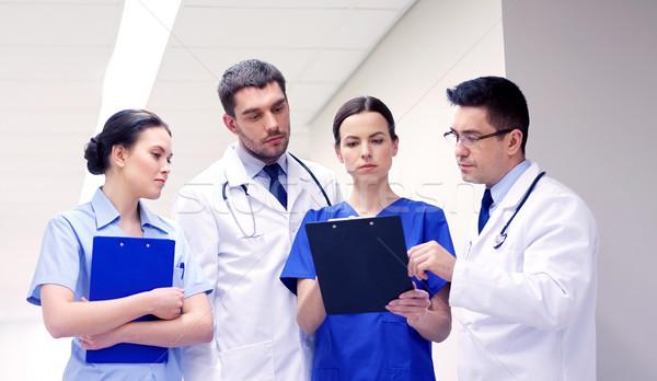 Csoport kórház vágólap klinika hivatás emberek Stock fotó © dolgachov