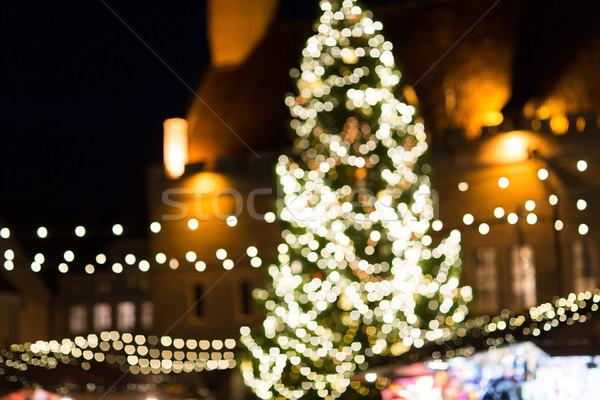 クリスマス 市場 タリン 旧市街 ホール 広場 ストックフォト © dolgachov