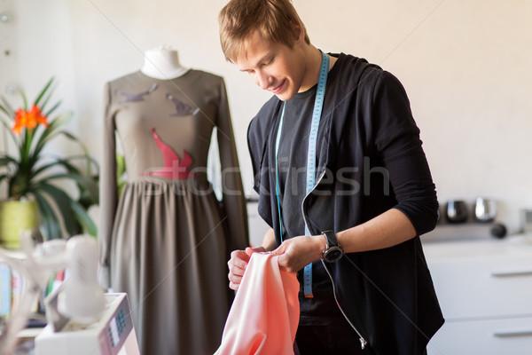 моде дизайнера ткань платье студию Сток-фото © dolgachov
