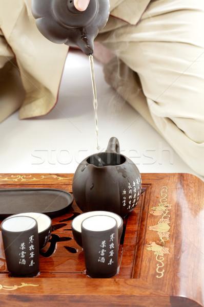 чай церемония фотография набор действий Сток-фото © dolgachov