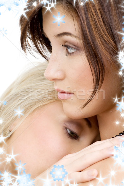 íntimo quadro dois meninas Foto stock © dolgachov