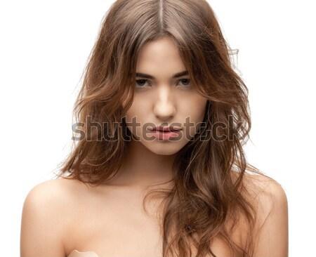 красивая женщина ярко портрет фотография женщину Сток-фото © dolgachov