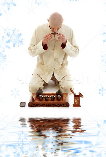 чай церемония ярко фотография работу Сток-фото © dolgachov