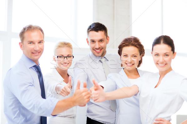 Squadra di affari ufficio foto felice Foto d'archivio © dolgachov