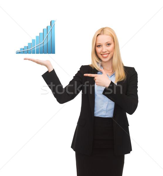 üzletasszony bemutat grafikon üzlet pénzügyek közgazdaságtan Stock fotó © dolgachov