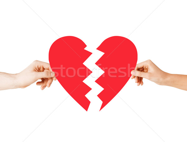 hands holding broken heart Stock photo © dolgachov