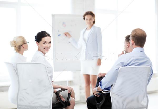 女性実業家 営業会議 オフィス 画像 笑みを浮かべて ビジネス ストックフォト © dolgachov