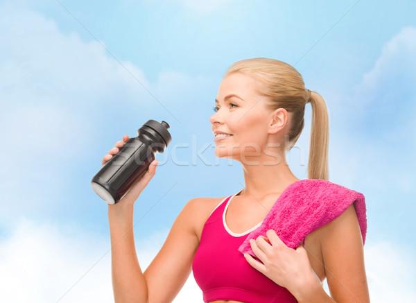 Deportivo mujer especial botella fitness Foto stock © dolgachov
