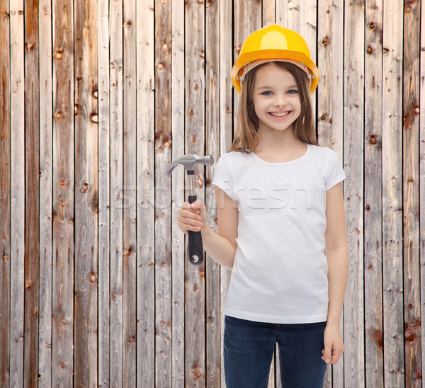 smiling little girl in protective helmet Stock photo © dolgachov