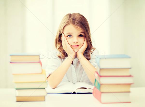 öğrenci kız eğitim okul eğitim küçük Stok fotoğraf © dolgachov