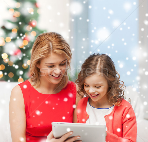 Madre hija casa personas tecnología Foto stock © dolgachov