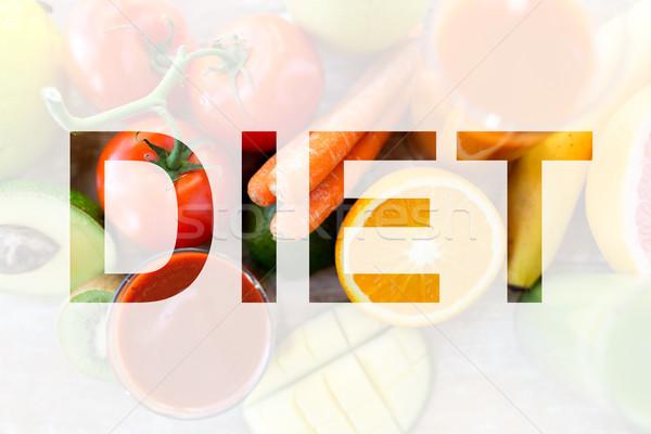 健康的な食事 ベジタリアン ダイエット ジュース 果物 野菜 ストックフォト © dolgachov