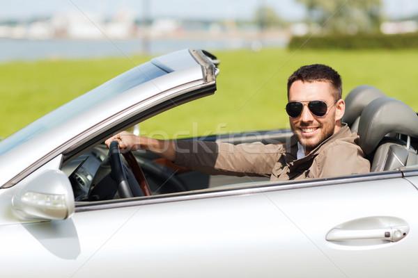 幸せ 男 運転 二輪馬車 車 屋外 ストックフォト © dolgachov