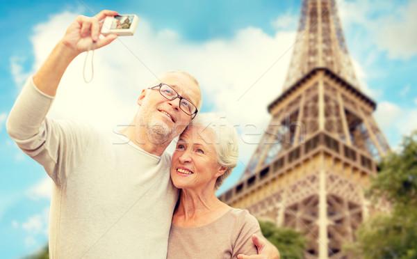 камеры Эйфелева башня возраст туризма путешествия Сток-фото © dolgachov