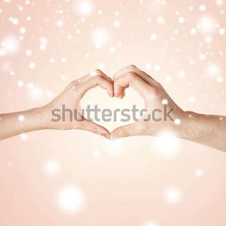 Mannelijke homo paar handen tonen Stockfoto © dolgachov