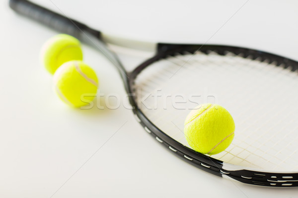 Racchetta da tennis sport fitness Foto d'archivio © dolgachov
