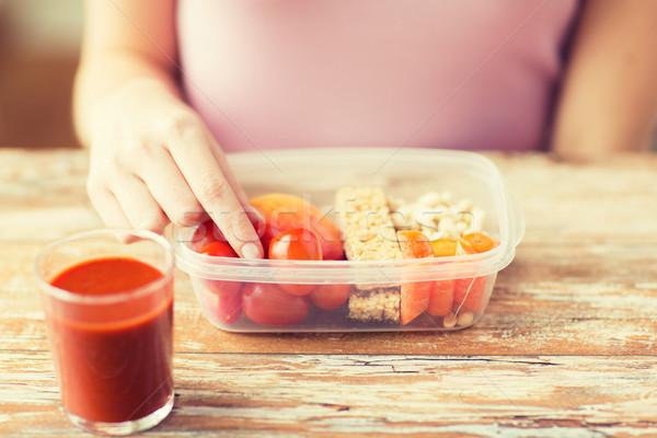 女性 精進料理 ボックス 健康的な食事 ダイエット ストックフォト © dolgachov