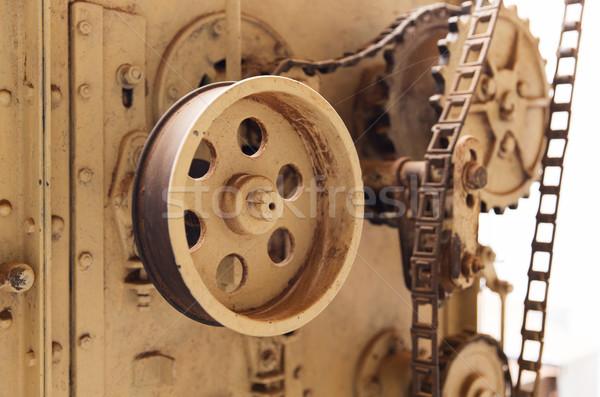 Vintage máquina mecanismo fábrica agricultura industria Foto stock © dolgachov