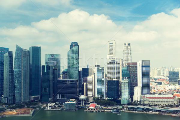 beautiful view to bangkok city seafront Stock photo © dolgachov