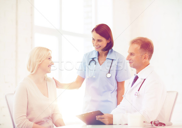 doctor with patient in hospital Stock photo © dolgachov
