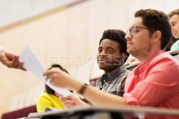 Międzynarodowych studentów test wykład edukacji liceum Zdjęcia stock © dolgachov