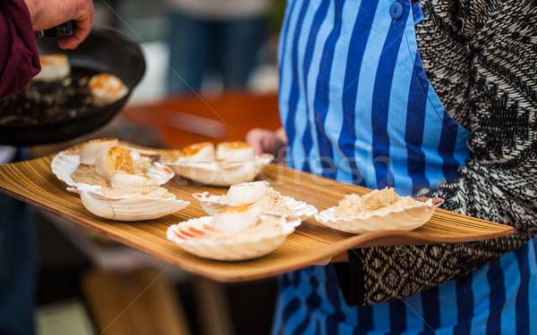 Snack guarnire conchiglia alimentare cottura Foto d'archivio © dolgachov