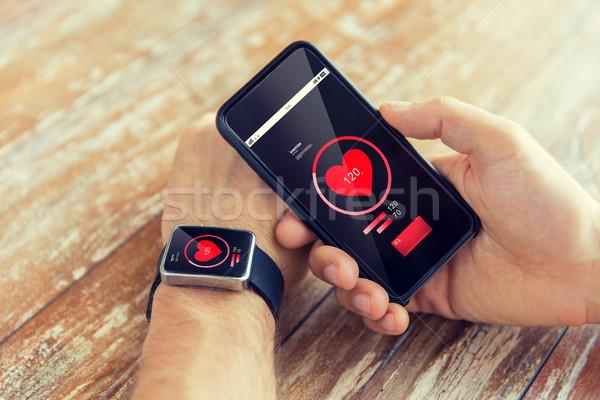 Eller izlemek teknoloji sağlık Stok fotoğraf © dolgachov