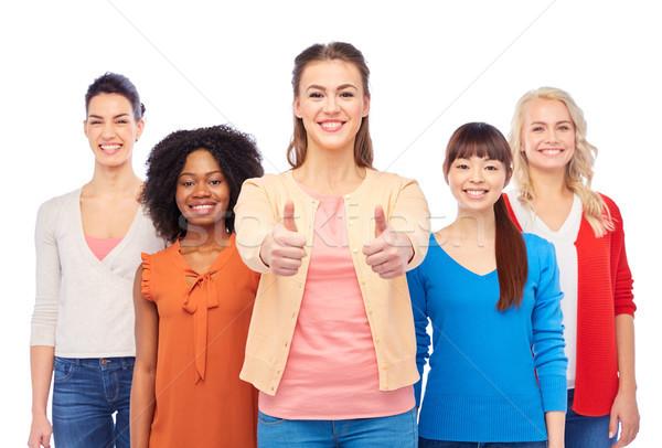 Międzynarodowych grupy kobiet różnorodności Zdjęcia stock © dolgachov