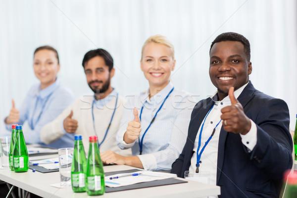 Ludzi działalności konferencji gest Zdjęcia stock © dolgachov
