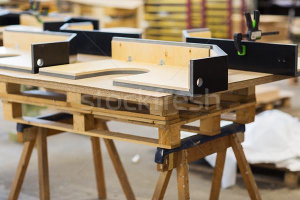 furniture items on workbench at workshop Stock photo © dolgachov