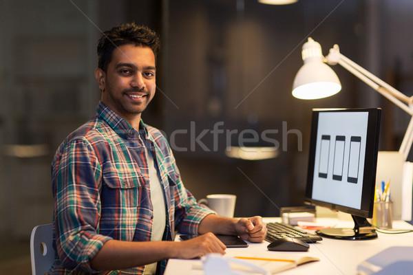 デザイナー コンピュータ 作業 1泊 オフィス 締め切り ストックフォト © dolgachov