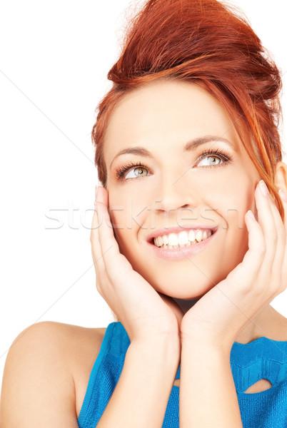 Vrouw heldere foto witte meisje jonge Stockfoto © dolgachov