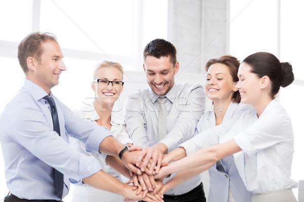 Foto stock: Equipo · de · negocios · victoria · oficina · negocios · Foto